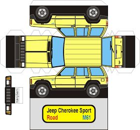 SP. Papel Modelismo: PaperCraft - Jeep Cherokee Sport                                                                                                                                                                                 Mais