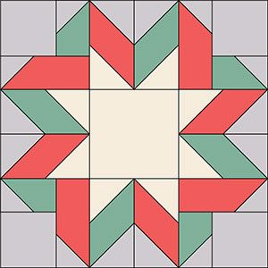 Easy to follow ribbon star quilt block instructions.  Open link for a pdf of instructions.