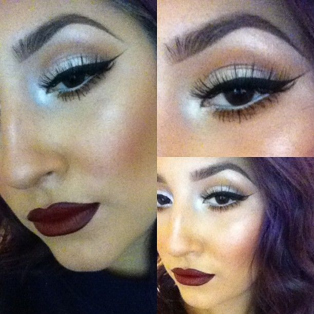 Fall makeup. Night moth lip liner and diva lipstick | Hair ...