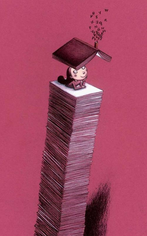 """""""Los libros son una droga sin peligro de una sobredosis. Yo soy la víctima feliz de libros..."""" K. Lagerfeld"""