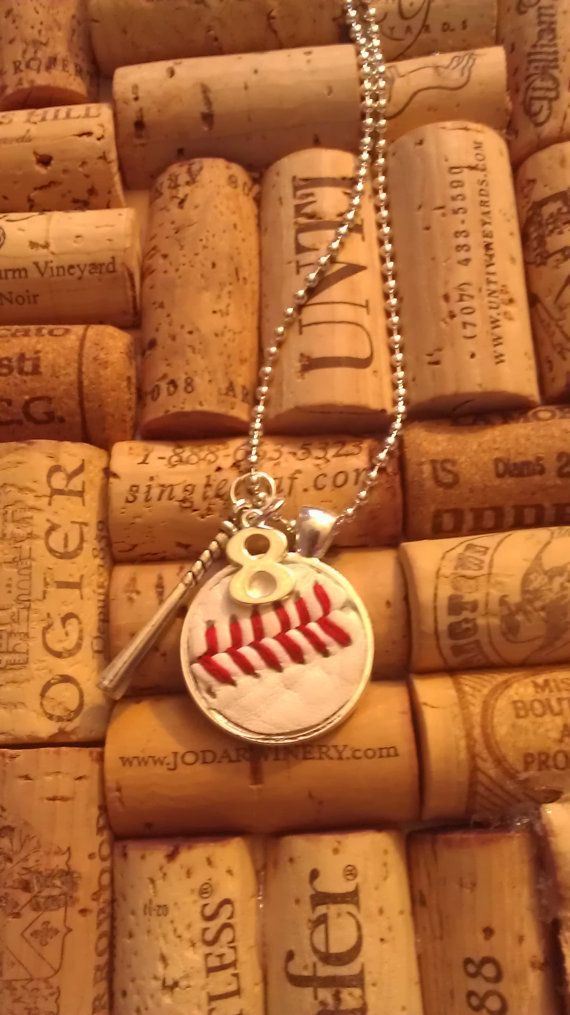 These necklaces are made from real new baseballs and softballs. Great for players, moms and fans. ***PLEASE LEAVE NUMBER IN MESSAGE TO