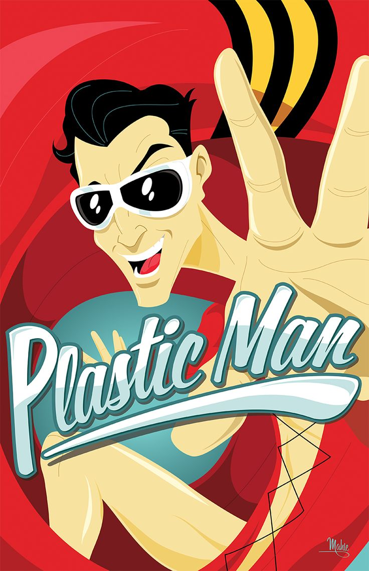 """Apocalypse Polakiewicz - Former criminal Patrick """"Eel"""" O'Brian became the super-elastic superhero known as Plastic Man. He can stretch his body into any imaginable form."""