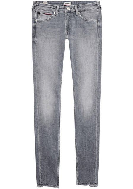 Skinny-fit-Jeans »Sophie« mit großem Logo-Patch…