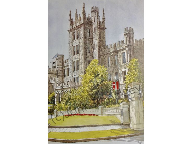 Northern Illinois University LIMITED EDITION Pen and Ink and Watercolor Art Print Illustration - Graduation Gift, Alumni by CollegeArtStoeckley on Etsy