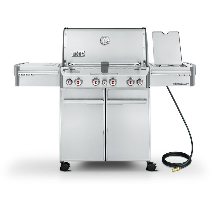Weber Summit S-470 Natural Gas BBQ Grill On Cart With Rotisserie, Sear Burner & Side Burner available at BBQ Guys. Summit Series gas...