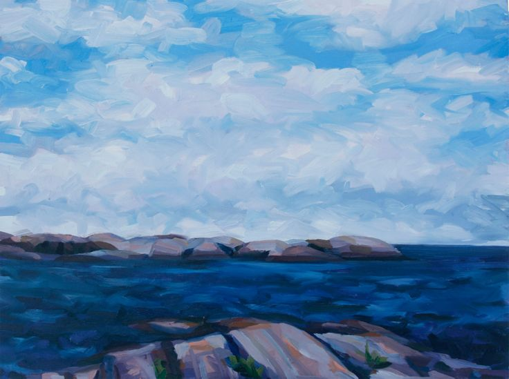 Armstrong Rock Oil on Canvas 36 X 48