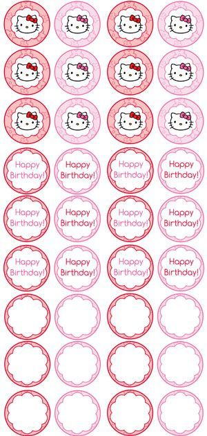 Free printable hello kitty cupcake toppers printable for Hello kitty cupcake topper template