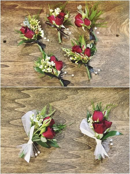 little miss lovely floral design // red rose boutonnieres // brooklyn estate wedding ocean city berlin md