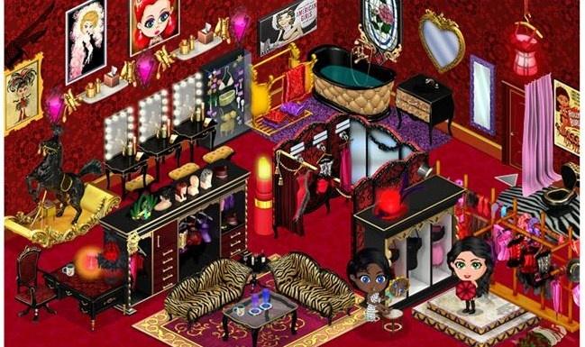 Burlesque palace dressing room yo ville decor for Burlesque bedroom ideas