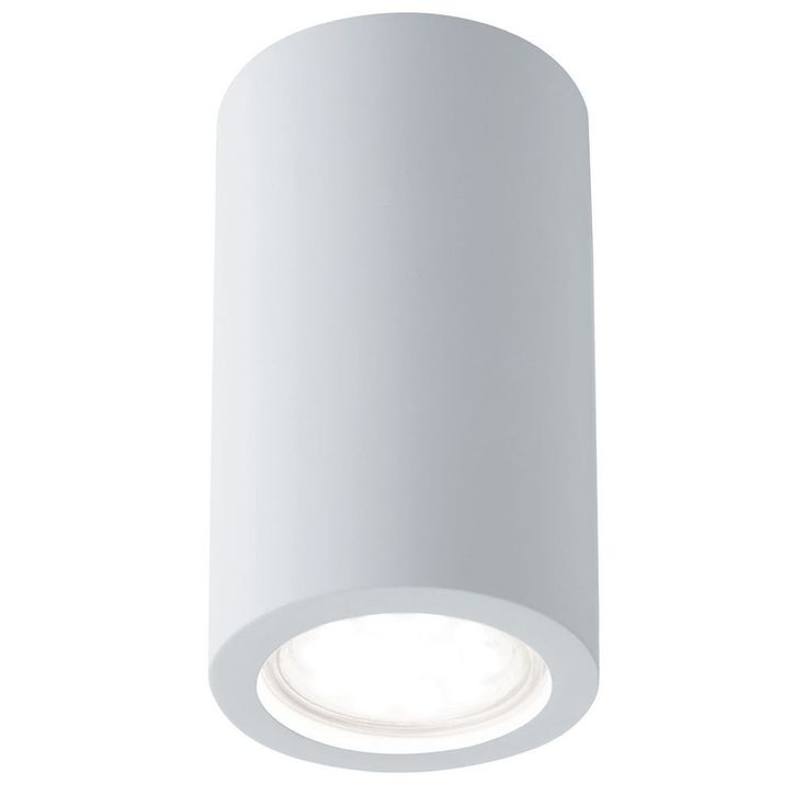 Searchlight 9273 Gypsum White Plaster Curved Cylinder Downlight Paintable from Dushka Ltd, London, UK.