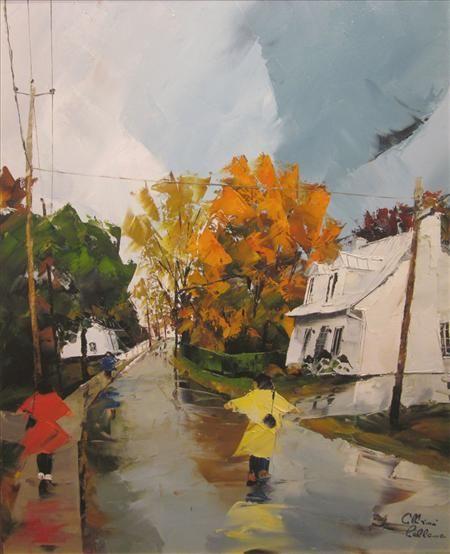 La maison blanche - Albini Leblanc - Galerie d'art Iris, Baie-Saint-Paul - Charlevoix