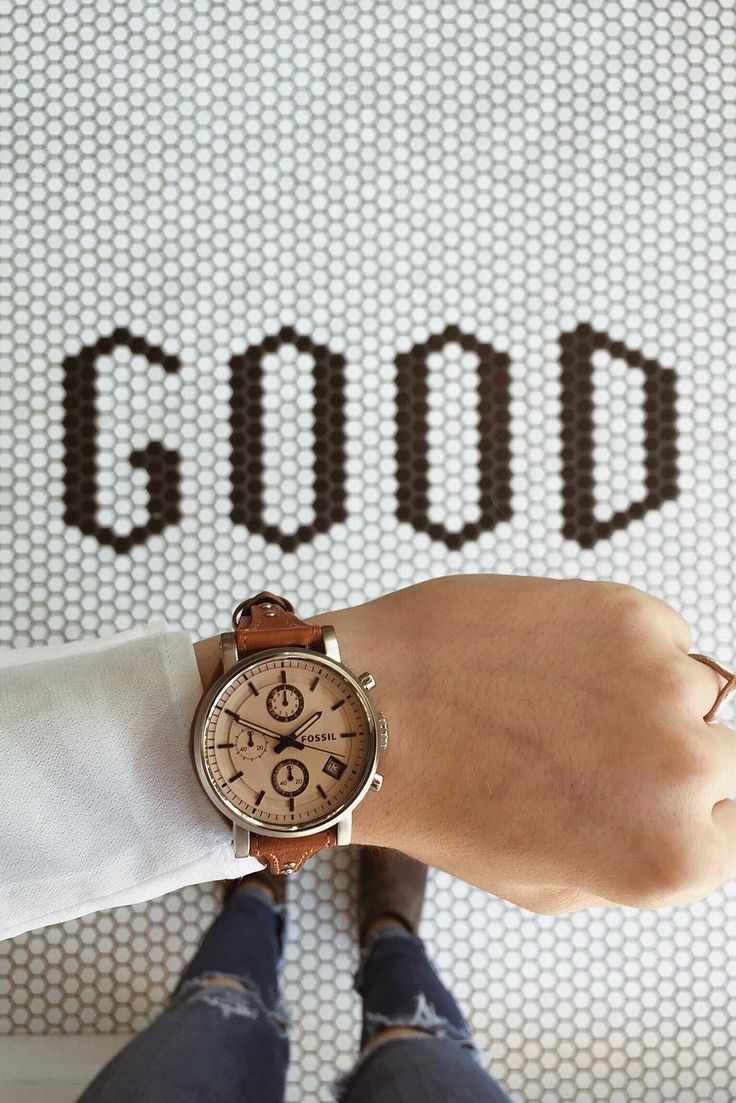 The new Fossil Original boyfriend watch, for all those perfectly timed feel-good moments.