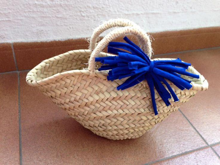 Mini capazo trapillo azul