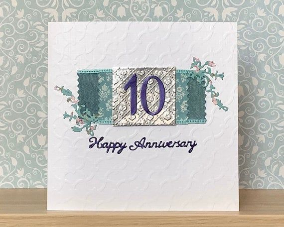 10th Wedding Anniversary Card Tenth Wedding Anniversary Card Etsy Wedding Anniversary Cards 15th Wedding Anniversary Anniversary Cards For Husband