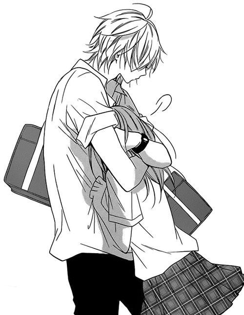 I love it when the boys just smoosh the girls in a random hug attack ..Shoujo Manga Pictures | via Tumblr