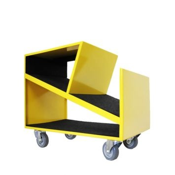The Yellow Zigzag Trolley is definitely one of the designs from Dark Horse that stands out. The Zigzag Trolley has a post modern design, which is bold in its geometric shape. The trolley has multiple uses around your home. It functions well as a magazine rack, bedside table, coffee table or bathroom cabinet. The Zigzag Trolley will definitely add decorative flair to your home or office. The trolley comes in the following colours: azure blue, red, sandpaper black, white, olive green, light…