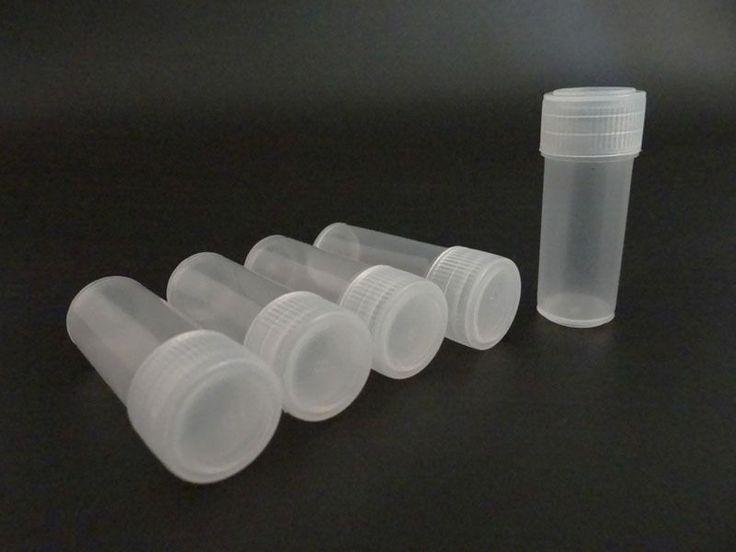 100Pcs (5 Ml) Plastic Vials Storage For Jags, Cleaning Fluids, Small Press Parts