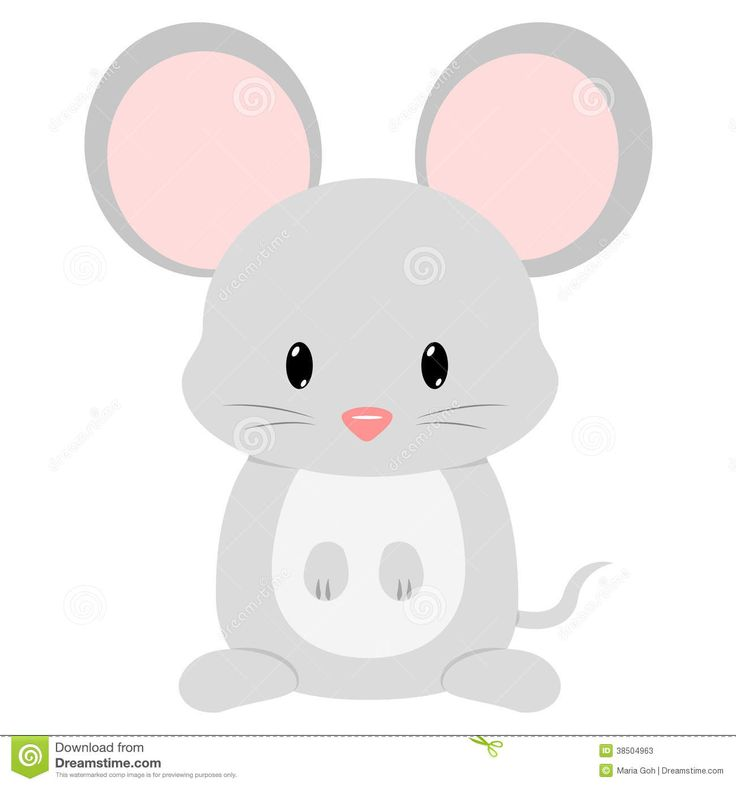 mouse cute cartoon baby seated 1300 1390