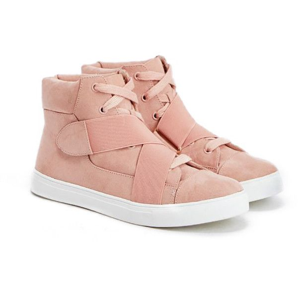 ShoeDazzle Street - Low Amelie Womens Pink ❤ liked on Polyvore featuring shoes, sneakers, pink, street - low, pink shoes, pink sneakers, low shoes, pink trainers and summer footwear