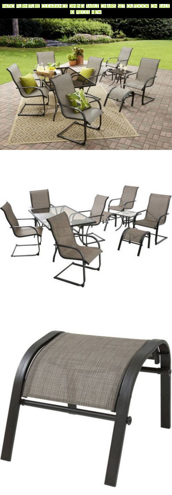 Patio Furniture Clearance Dining Table Chairs Set Outdoor On Sale 10 Pieces  NEW #patio #