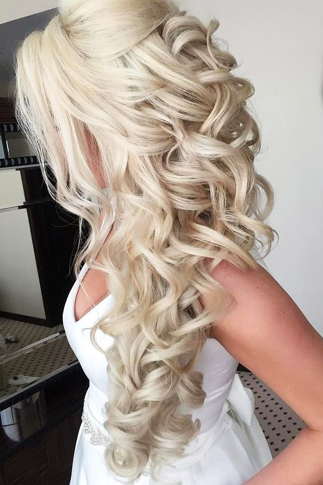 45 Half Up Half Down Wedding Hairstyles Ideas Elegant