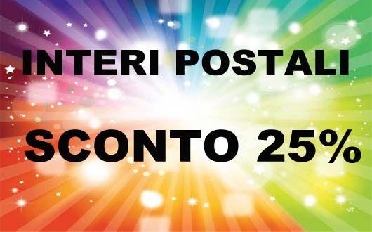 Sconto del 25 % sugli interi postali della sezione vendite dirette su www.filsam.com