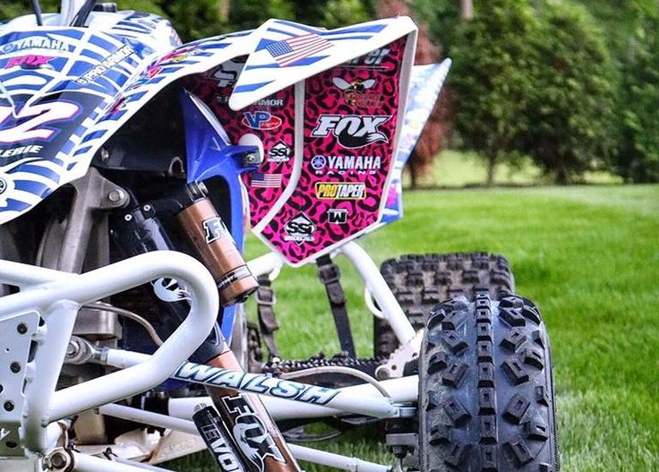 If you've been following along, , you know that my bike has gone through quite a transition since I got it two years ago! Hell, when I first got it I was riding it around with some random dude's last name on it!  #YFZ #ATV #Offroad #Motocross #Yamaha #Quad #GirlsWhoRide