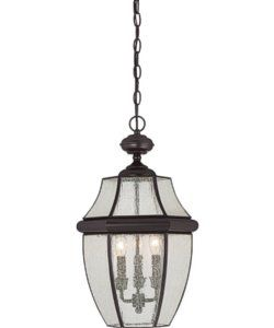 Quoizel Newbury 3-Light Outdoor Pendant Light Medici Bronze NY1912Z