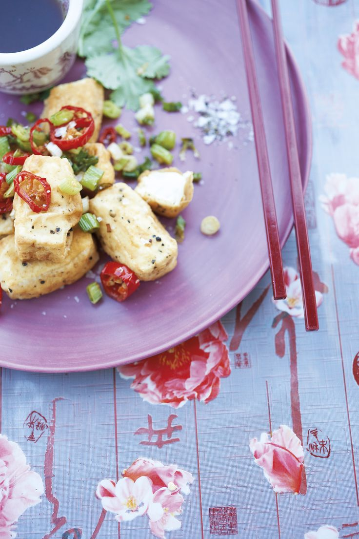This is a great way to ease yourself into the idea of tofu – the crispy salt and pepper coating and spicy-sweet dipping sauce are a match made in heaven. It's also the ideal drinks snack for your vegetarian guests.