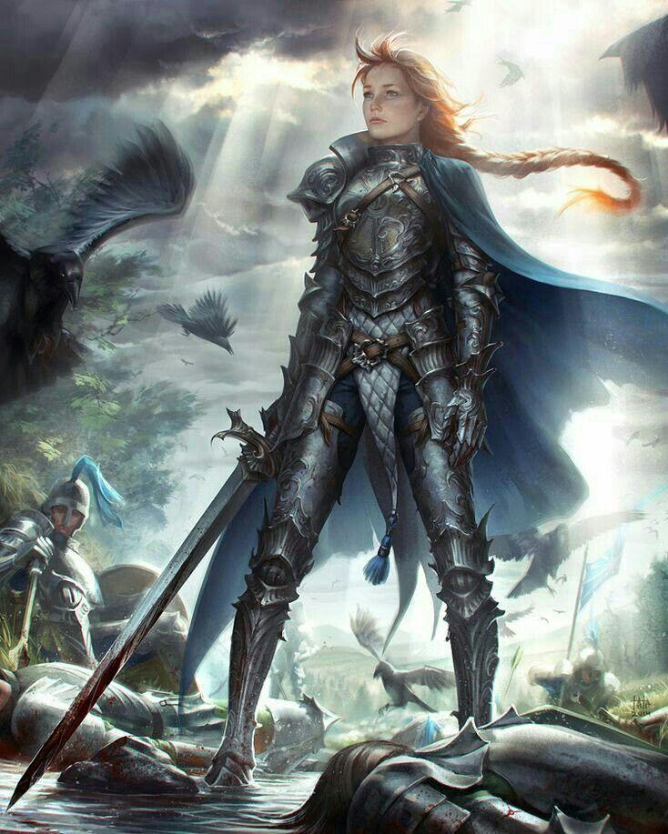Female Knight Paladin - Pathfinder PFRPG DND D&D d20 fantasy