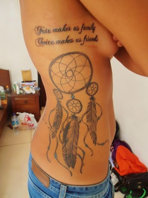 i want a dreamcatcher tattoo like this. i think theyre beautiful