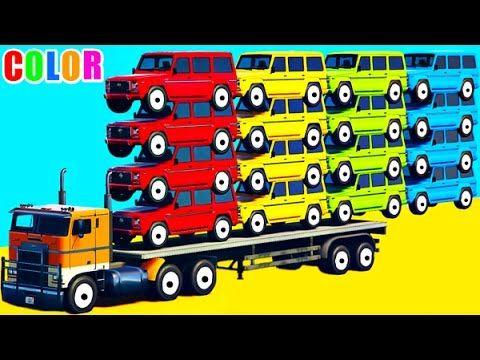 color long cars in spiderman cartoon for kids w colors superheroes nursery rhymes youtube