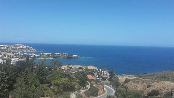 View from Village Panorama Hotel, Agia Pelagia, Crete.