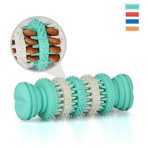 Dog Chew Toys, MixMart Interactive Dog Rubber Chew Bone Toy Dental Treat for Chewing and Playing (Mint)