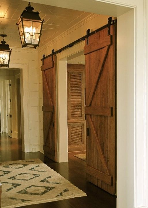 Beautiful Wood Basement Door