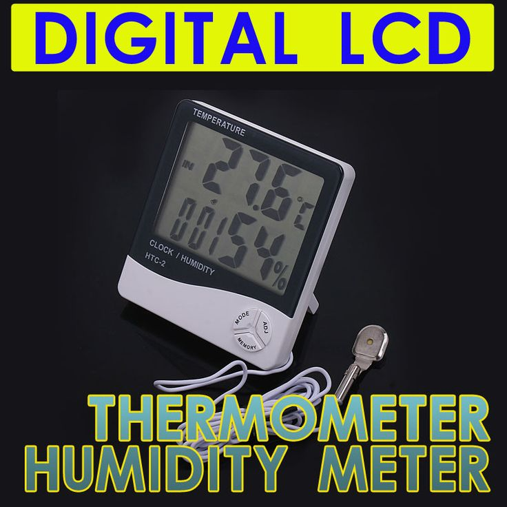 HTC-2 Digital LCD Temperature Thermometer Humidity Meter Tester Clock White Hygrometer Electronic 2014 New Weather Station#ZCY94