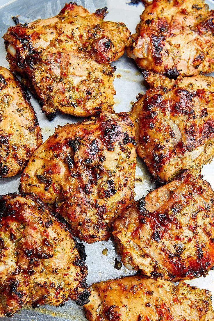 Grilled Marinated Skin On Chicken Thighs Ifoodblogger Com Chicken Chickenthighs Grilled Chicken Thights Recipes Grilled Chicken Thighs Grilled Bbq Chicken