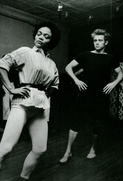 eartha/james dean.  dance class.  so strong.