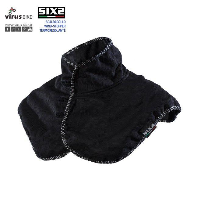 #SIXS #WTSC Collare in tessuto idrorepellente anti-vento, con protezione aggiuntiva per spalle e petto.