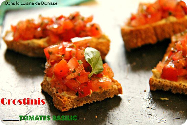 Crostinis à la tomate