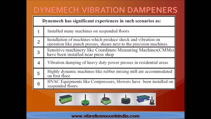 #dynemech #vibration #damping pads for all machines