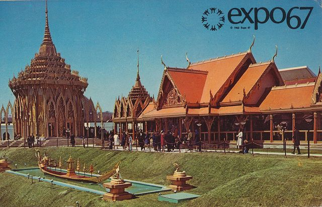 Pavilion of Thailand at Expo '67 - Montreal, Quebec by What Makes The Pie Shops Tick?, via Flickr