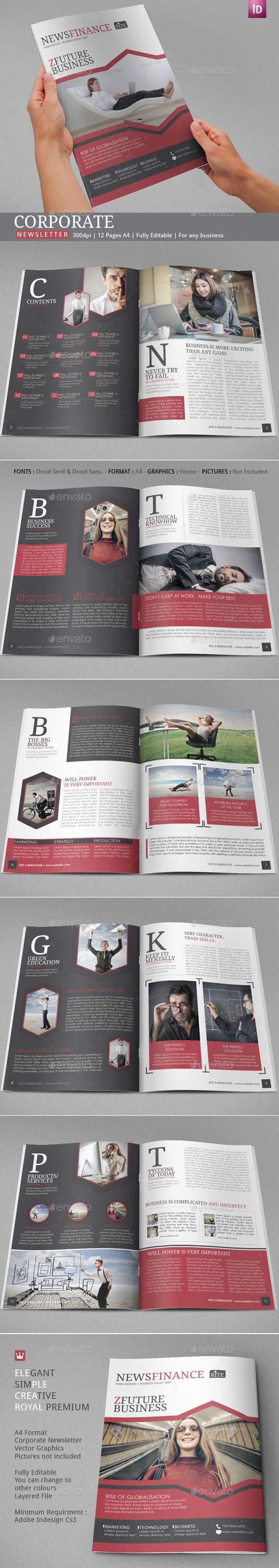 82 best Newsletter Ideas - 100 Indesign Templates images on ...