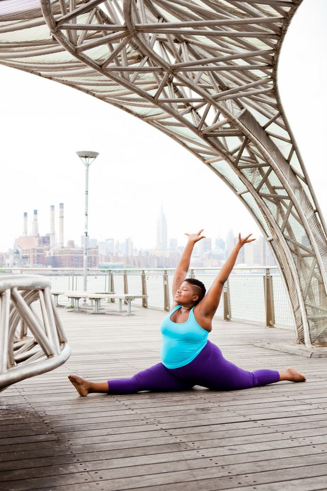 """Jessamyn Stanley Shows Us, Yoga is for Every Body http://thecurvyfashionista.com/2017/04/jessamyn-stanley-book-yoga-is-for-every-body/  Plus size yogi, Jessamyn Stanley has recently launched her book, """"Every Body Yoga"""" and we interview her about her process, plus size yoga, and why she started this journey!"""