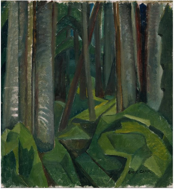 Emily Carr (Can. 1871-1945), Untitled (forest scene), 1932, oil on canvas, 48.2 x 52.1 cm, Victoria, Royal BC Museum