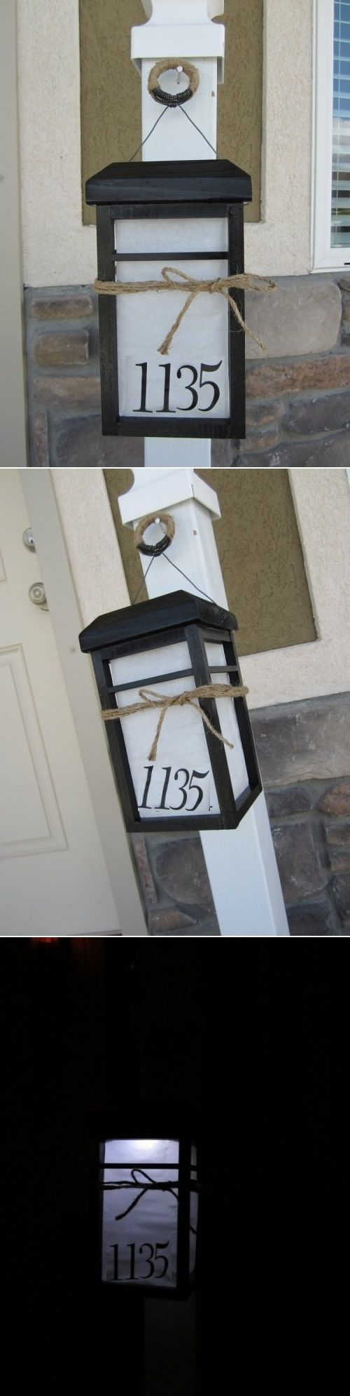 DIY Solar Lantern To Illuminate House Numbers