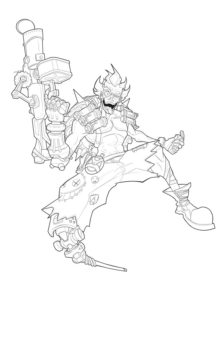 overwatch coloring pages genji - 17 best images about overwatch junkrat chacal