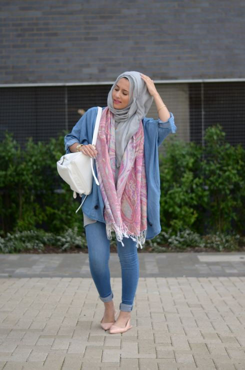 Scarf Jacket Forever21 Jeans River Island Shoes Topshop Bag Accessorize