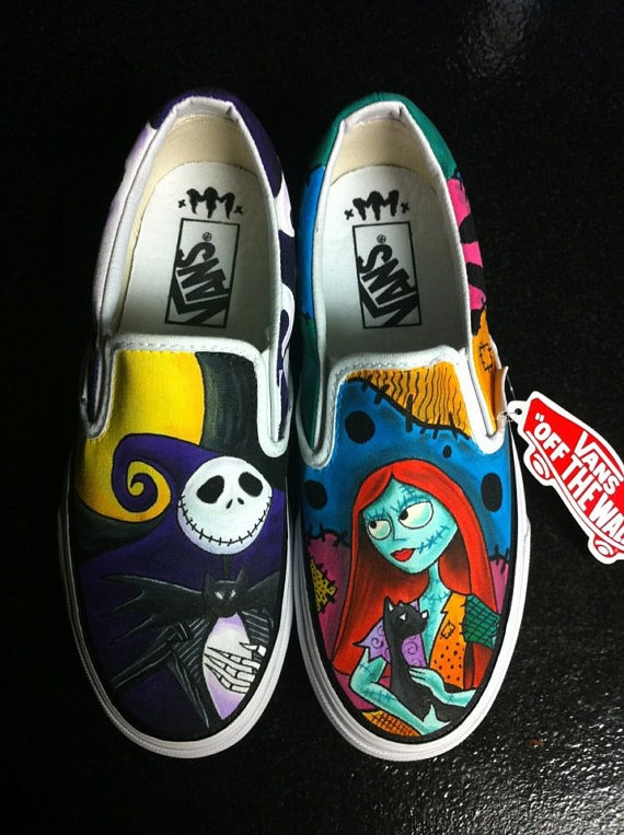 custom Vans shoes example by MonsterMacDesigns on Etsy, $150.00