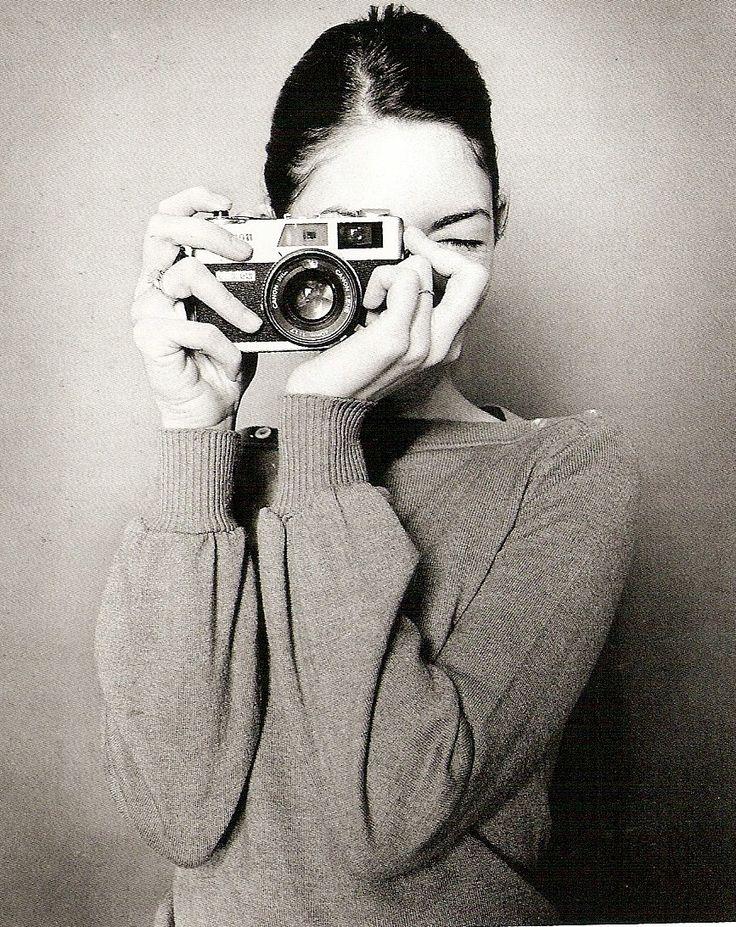 Sofia Coppola using analogue camera